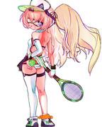 テニスウェアバッチかわいい!