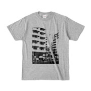 Tシャツ 杢グレー Ikebukuro_Building