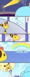 デンリュウに虹を見せたいホエルオー