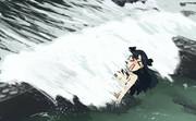 波打ち際の温泉に浸かるイシュタル