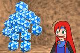 小二重三角二十・十二面体のゴーレムと少女