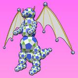 斜方二十・十二面体のドラゴン