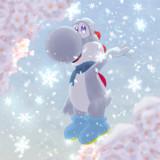 桜ヨッシー2020に手を加えて無理やり雪ヨッシーにしました