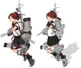 敷波改二【MMD艦これ改造モデル】比較(とらはぜフガクkizck式 改変)