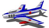 ノースアメリカン・F-86Fセイバー(ブルーインパルス仕様)【MMDモデル配布】