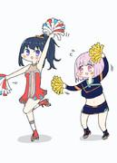 チアガールな宝多六花ちゃんと新条アカネちゃん