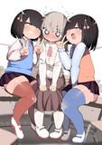レズっぽい姉妹とそれに挟まれるレズっぽい子