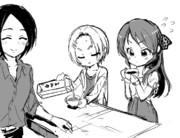 コーヒーを振る舞うあいさん(東郷あい/橘ありす/龍崎薫)