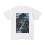 シンプルデザインTシャツ M-CrowCastle(NAVY)