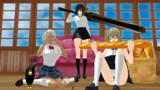【MMD】「ヤミ子とP子・花と烏」