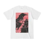 シンプルデザインTシャツ M-CrowCastle(CRIMSON)