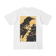 シンプルデザインTシャツ M-CrowCastle(GOLD)