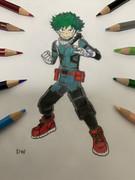 色鉛筆でアニメキャラ・シーン描いてみた#1