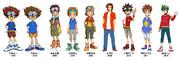 デジモンアニメの歴代の主人公達