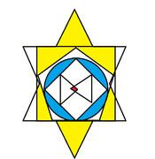 黄色の部分の面積の合計が8㎡、青い部分の面積の合計が7㎡の時、中心の赤い部分の面積は分かりません