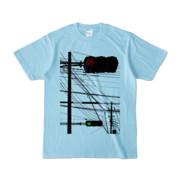 Tシャツ ライトブルー Aka-Ao/Shingo