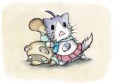 酒匂猫とたぬきち