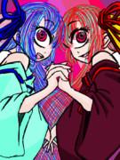 久々に単眼琴葉姉妹描きました。