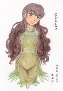 コピック着色 アマビエ トウコ(服部瞳子さんぽいの61)