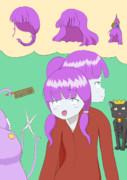 髪型を考えるエニラちゃん