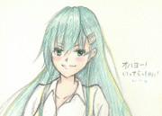 鈴谷さんとお絵描き練習8