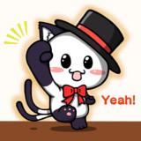 ポジティブ猫ヤミー君  「元気出していこう」