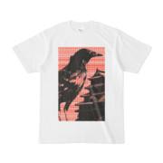 シンプルデザインTシャツ M-CrowCastle(TOMATO)
