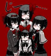 四白眼四姉妹。
