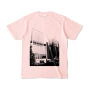 Tシャツ ライトピンク Shinjuku_Building
