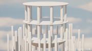 stage_nb10 (石柱の浮島)(MMDステージ配布)