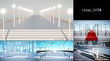 簡易ステージ「stage_SV04 (石手摺の橋)」(MMDステージ配布)
