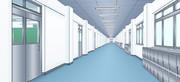 School hallway (学校の廊下)