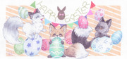 2020 Happy Easter 狐バージョン