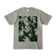 Tシャツ シルバーグレー PLANT_GREEN
