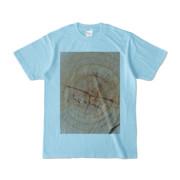 Tシャツ ライトブルー SIMPLE-STUMP
