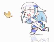 リゼ皇女が笑顔で走るだけのGIFアニメ