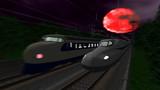 紅い月の下を走る新幹線 for VRM5