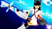 【MMD】坂本美緒~白服+白スクver~【ストライクウィッチーズ】