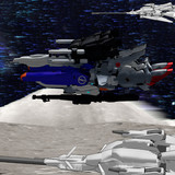 月面をカッ飛ぶ可変型MS