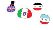 フランスに勝ったはいいが列強に囲まれたイタリア君(右下は関係ない)