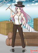 造船所で仕事するアブルッツィ