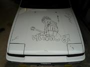 車に描いてみた