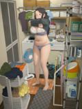 脱衣所のお姉さん