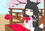 「いいね」を食べるキツネ巫女