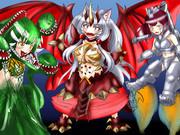 ゴジラ怪獣コス三姉妹