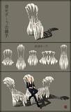 骨モチーフの椅子【MMDアクセサリ配布】