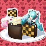 大きなチョコケーキ