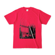 Tシャツ ホットピンク Shinjuku_Building