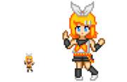 【スーパーファミコン】鏡音リン【インテリ眼鏡 作<3】