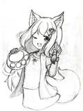 狐尾猫_落書き